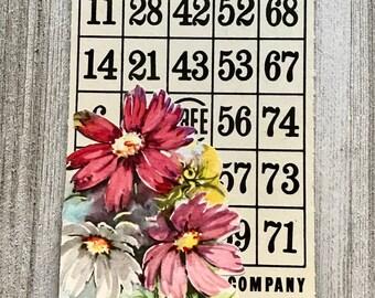 Embellished Vintage Bingo Card