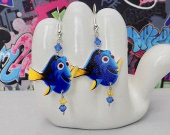 Finding Dory the Blue Tang Dangle Earrings