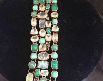 bronze bracelet with stones