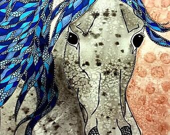 Horse Watercolor Painting - Horse Print - Horse Wall Art - Horse Painting - Horse Poster - Equine Art - Farm Animal Prints - Horse Art