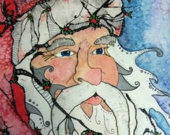 Christmas Art - Santa Claus - Santa Claus Print - Santa Claus Painting - Santa Claus Art - Santa Claus Lover - Santa Wall Art - Christmas