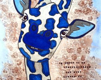 Giraffe Print - Giraffe Painting - Animal Painting - Giraffe Watercolor - Giraffe Art - Giraffe Decor - Giraffe - Art Prints - Watercolor