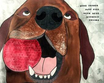 Lab Painting - Chocolate Lab - Labrador Art - Dog Painting - Dog Print - Dog Wall Art - Dog Lovers - Labrador Lovers - Labrador Print - Lab