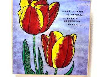 Tulips Wall Art - Tulip Wall Art - Tulip Watercolor - Tulip Lover - Tulips Painting - Tulip Print
