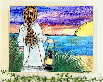 Girl Art - Little Girl Artwork - Girl Painting - Daughter Artwork - Kid Paintings - Child Artwork - Girl Paintings - Kids Bedroom - Child