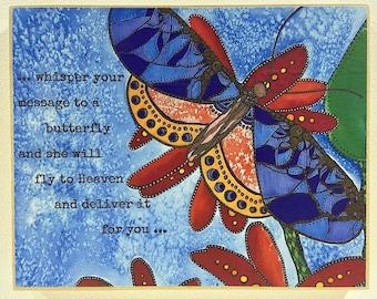 Butterfly Art - Inspirational Artwork - Heaven Painting - Butterfly Artwork - Whimsical Decor - Grieving Art - Inspirational