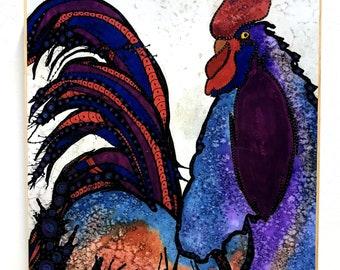 Rooster Wall Art - Rooster - Rooster Print - Rooster Art - Rooster Painting - Chicken Art - Chicken Wall Art