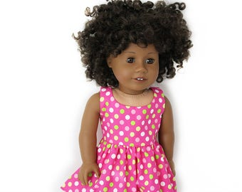 """Polka Dot Perfection Sundress for American Girl and other 18"""" Dolls"""