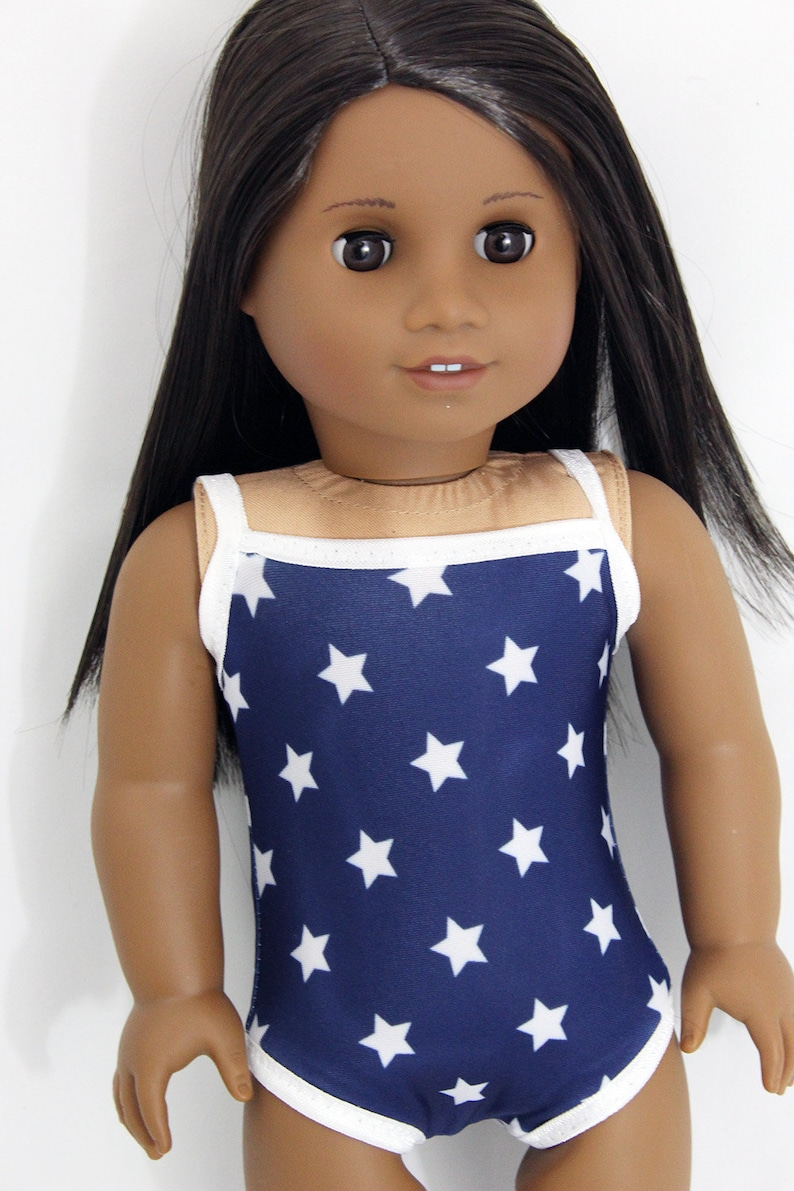 Patriotic Star Swimsuit for 18 Dolls Such as American image 0