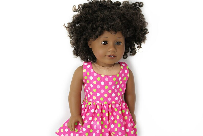 Polka Dot Perfection Sundress for American Girl and other image 0