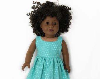 """Teal Summer Sundress for 18"""" play vinyl Dolls such as American Girl or Our Generation"""