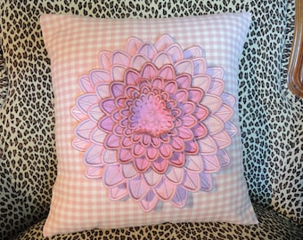 Pink Dahlia Decorative Pillow, Home Decor, Home & Living