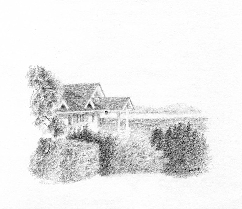 ORIGINAL House Above the Bay  Sketch image 0