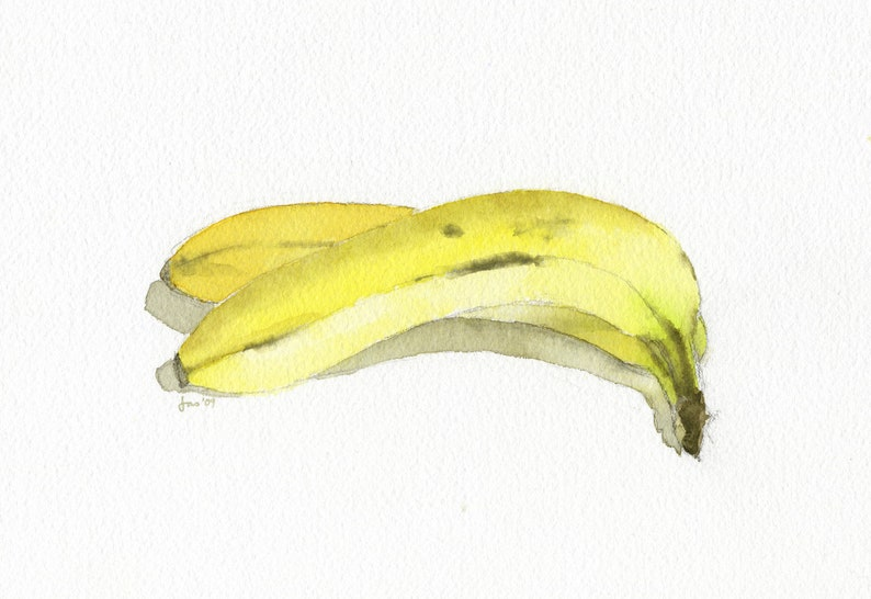 ORIGINAL Bananas  Watercolor Painting image 0