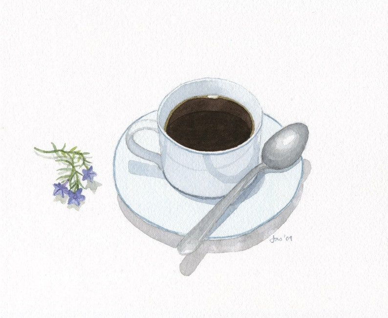 ORIGINAL Cup of Coffee  Watercolor Painting image 0