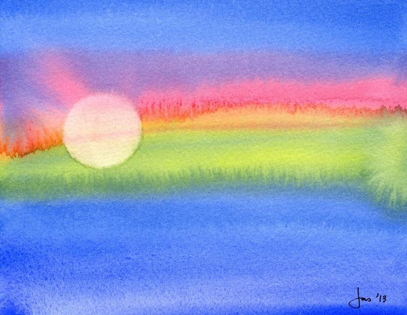 ORIGINAL Red Star  Watercolor Painting image 0