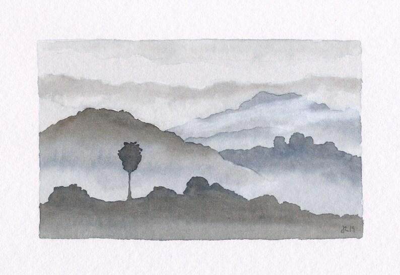ORIGINAL Califonia Hills  Watercolor Painting image 0