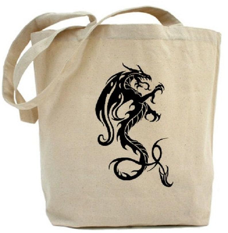 Canvas Tote Bag Dragon Tote Bag