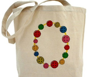 BUTTONS - Cotton Canvas Tote Bag - Gift Bags