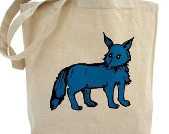 Fox Tote - Cotton Canvas Tote Bag