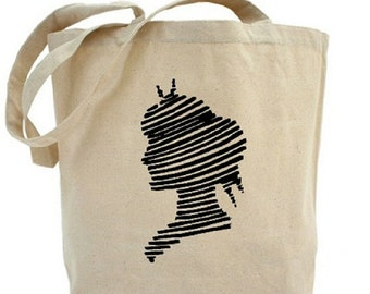 Cotton Canvas Tote Bag - Silhouette - Woman - Gift Bags