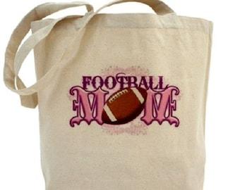 Canvas Tote Bag - FootBall Mom - Football Tote Bag - Sports Tote
