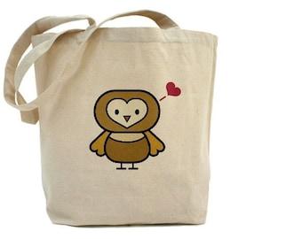 OWL Tote - Cotton Canvas Tote Bag