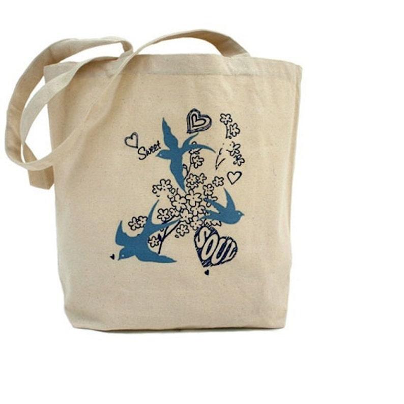 Cotton Canvas Tote Bag Sweet Soul