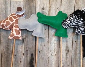 Zoo Theme Stick Animals