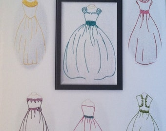 Hand Embroidery Dress pattern
