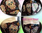 Happy Skulls- Sugar Skulls -Adult and Child Washable Reusable -Germ Freak Designer Face Masks