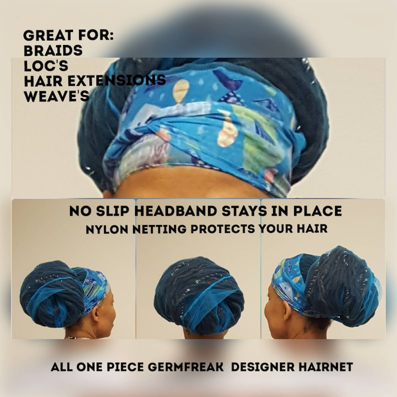 Love My Net by Germfreak hair net  handmade hair net hair image 0
