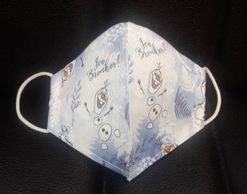 Child Olaf print face mask face mask for kids | Etsy
