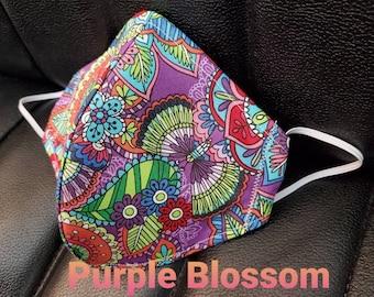 Purple mask - Purple Dot Bling mask -cloth face mask - floral surgical face mask - face masks medical