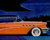1955 Buick Car Chef Boy-Ar-Dee Spaghetti and Meat Balls Advertisement Print Ad Poster Garage Mechanic Shop Showroom Wall Art Home Decor