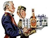 1946 PM Whiskey Liquor Ad Veedol Motor Oil Advertisements Print Ad Poster Bar Pub Tavern Restaurant Bartender Wall Cocktail Art Home Decor