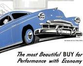1949 Chevrolet General Motors Car Advertisement Print Ad Poster Automobile Mechanic Shop Garage Vehicle Industrial Wall Art Home Decor