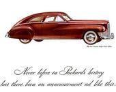 1946 Packard Clipper Car Can Manufacturers Institute Advertisement Print Ad Poster Mechanic Shop Garage Automotive Wall Art Home Decor