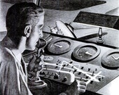 1943 RCA Laboratories WWII Advertisement Print Ad Poster Aviation Aeronautics Pilot Airplane Radio World War 2 Wartime Wall Art Home Decor