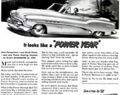 1952 Buick Car Advertisement Print Ad Poster Automobile Mechanic Shop Garage Typography Nostalgia Bar Pub Man Cave Wall Art Home Decor