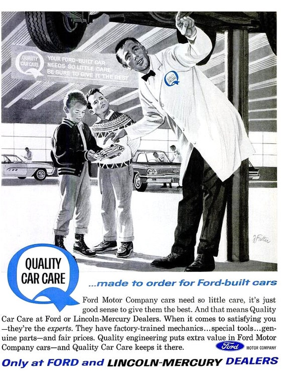 1963 Ford Lincoln Mercury Car Advertisement Print Poster Etsy