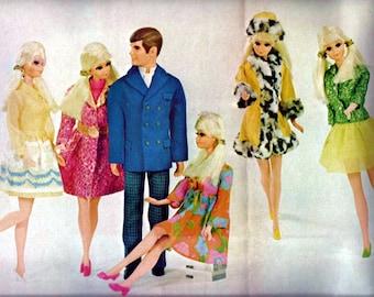 1960s Barbie Magazine Paper Ephemera Print Vintage Mid Century Marimekko Mod Print Wall Art Ad Home Decor Fashion Doll Retro Nostalgic Gift