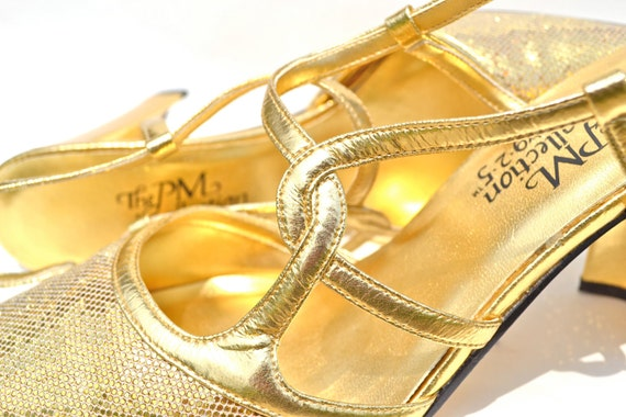 Retro Gold High Heels Dazzling PM Collection Prom Pumps | Etsy