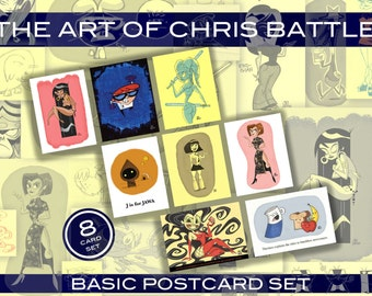 The Art of Chris Battle Basic Postcard Set