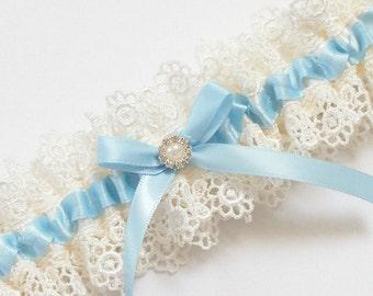 752cdd93c143 Light Blue Wedding Garter, Something Blue Wedding Garter - The ALLIE Garter