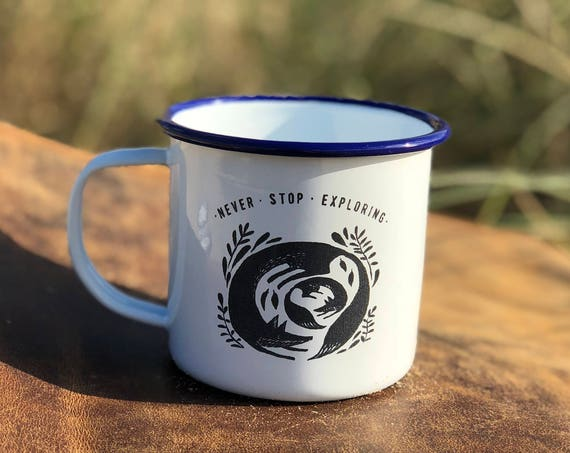 Fox & Cub 2017 - Etched Enamel Mug