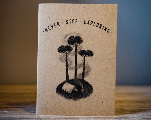 Three Pines - A6 Notebook / Sketchbook / Journal
