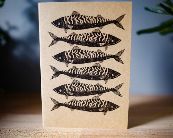 Cornish Mackerel - A6 Notebook / Sketchbook / Journal