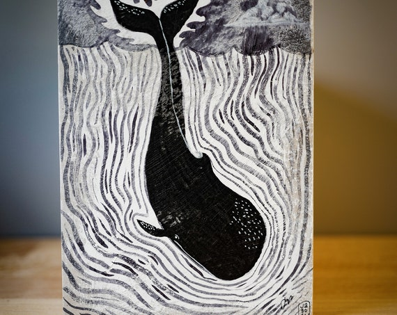 Whale One Original Mixed Media Artwork 18th May 2021