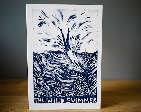 The Wild Swimmer -  Greetings Card